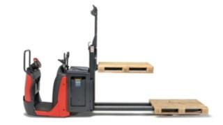 Gafflarna på plocktruck N20 från Linde Material Handling i profil