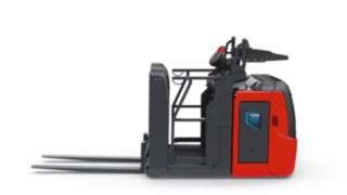 Sidogaller på plocktrucken V08 från Linde Material Handling ger extra skydd för föraren.