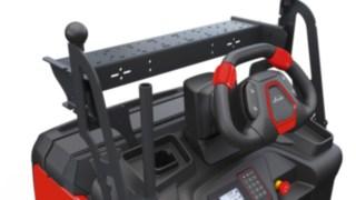 Plocktruck V08 från Linde Material Handling med ratt som kan justeras i höjdled.