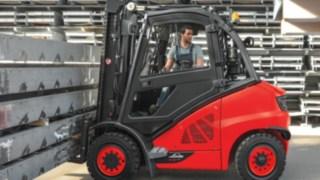 Linde dieseltruck i arbete