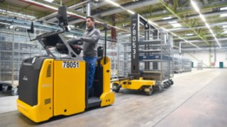 Lindetruckar i arbete hos Heidelberger Druckmaschinen AG