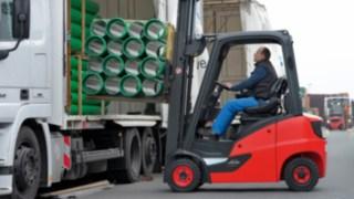 De nyligen lanserade diesel-, gasol- och CNG-motviktstruckarna Linde H14-H20 EVO