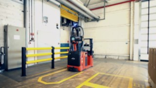 Automatiserad truck hos BASF Italia