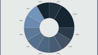 Cirkeldiagram för truckfördelning