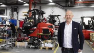 Henrik Adolfsson, servicemarknadschef på Linde Material Handling
